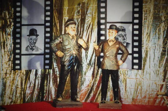 Giant Laurel & Hardy Statues
