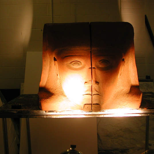 Egyptian Head in Workshop