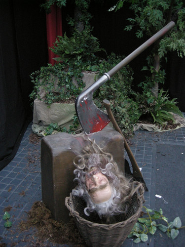 Executioners Block and Severed Head - Prop Hire - Staging Services