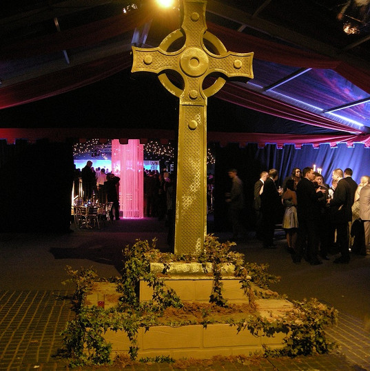 Medieval Event Theming With Giant Celtic Cross