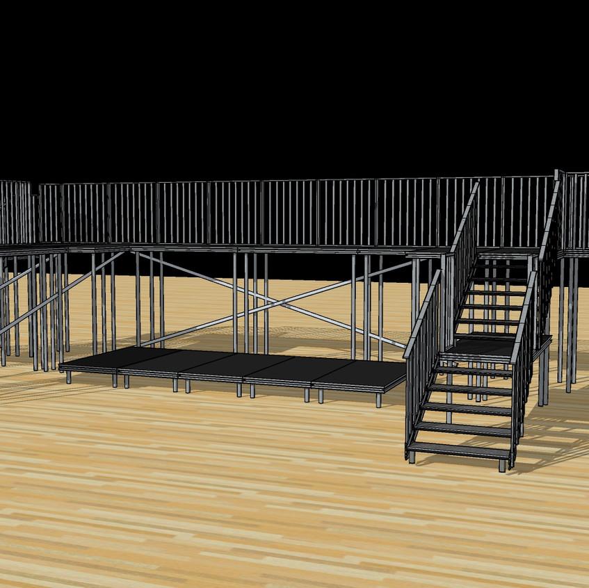 Stage set design by SSL