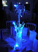 Winter Wonderland Ice Table Centre Vase - Prop hire - Staging Services