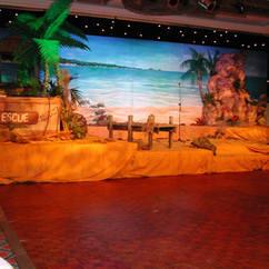 Caribbean Stage Set Backdrop