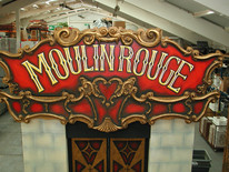 Moulin Rouge Entrance Sign - Prop Hire Staging Services