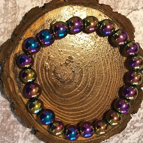 Multi-Color (Rainbow) Hematite Bracelet