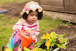 Child in nursery garden