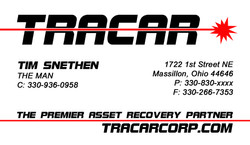 TimS TRACAR-Card Front