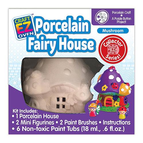 Made 4 U Studio Craft EZ Oven Porcelain Mushroom Fairy House