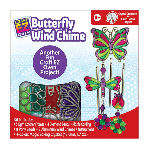 Made 4 U Studio Craft EZ Oven Crystal Creations Butterfly Windchime