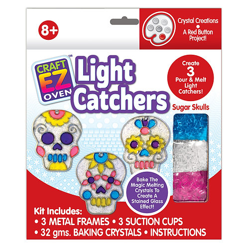 Made 4 U Studio Craft EZ Oven Crystal Creations Sugar Skull Light Catchers