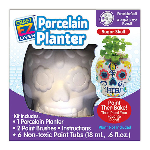 Made 4 U Studio Craft EZ Oven Porcelain Sugar Skull Planter