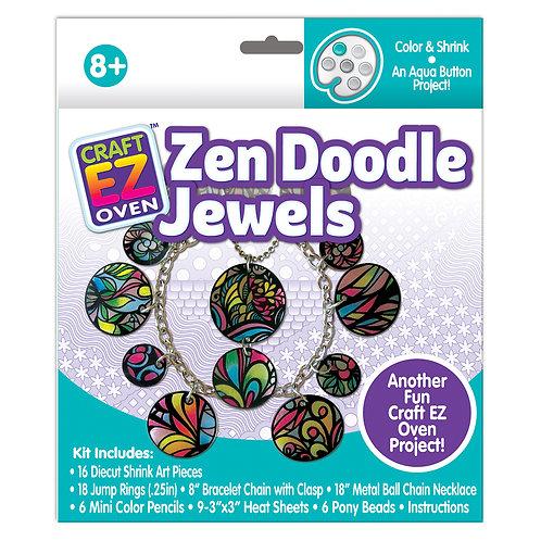 Made 4 U Studio Craft EZ Oven Color and Shrink Zen Doodle Jewels
