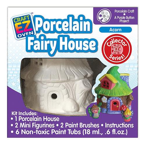 Made 4 U Studio Craft EZ Oven Porcelain Fairy Acorn House