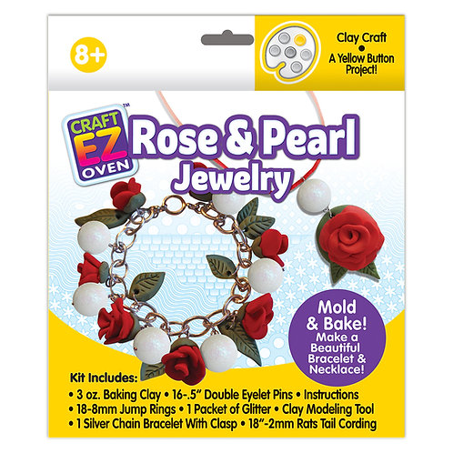 Made 4 U Craft EZ Oven Rose & Pearl Mold and Bake Jewlery