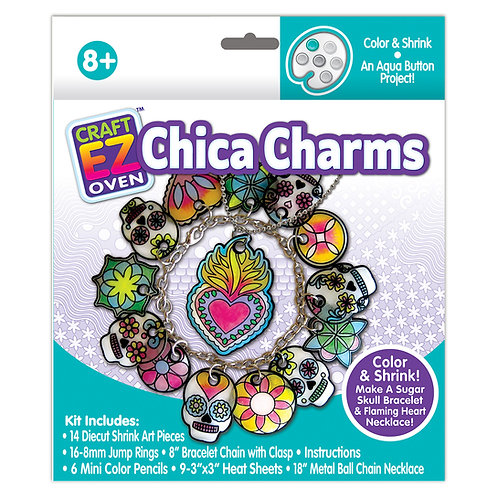 Made 4 U Studio Craft EZ Oven Color and Shrink Chica Charm Jewelry