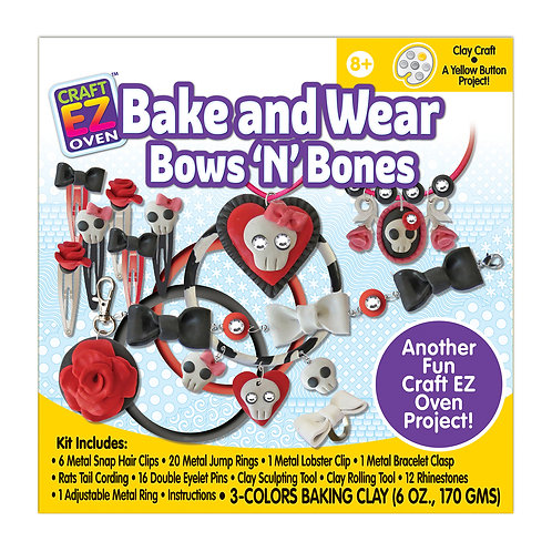 Made 4 U Studio Craft EZ Oven Bake Bake and Wear Bones 'n' Bows Kit
