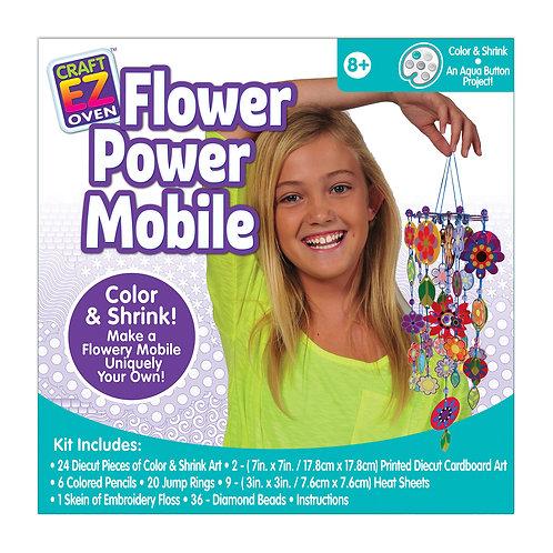 Made 4 U Studio Craft EZ Oven Color and Shrink Flower Power Mobile