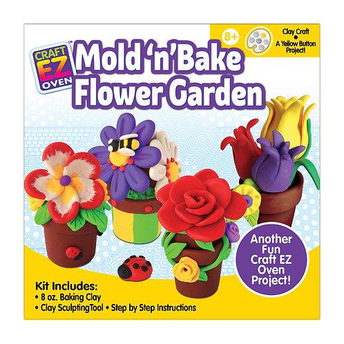 Made 4 U Studio Craft EZ Oven Mold 'n' Bake Flower Garden Kit