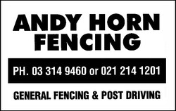 Andy Horn Fencing