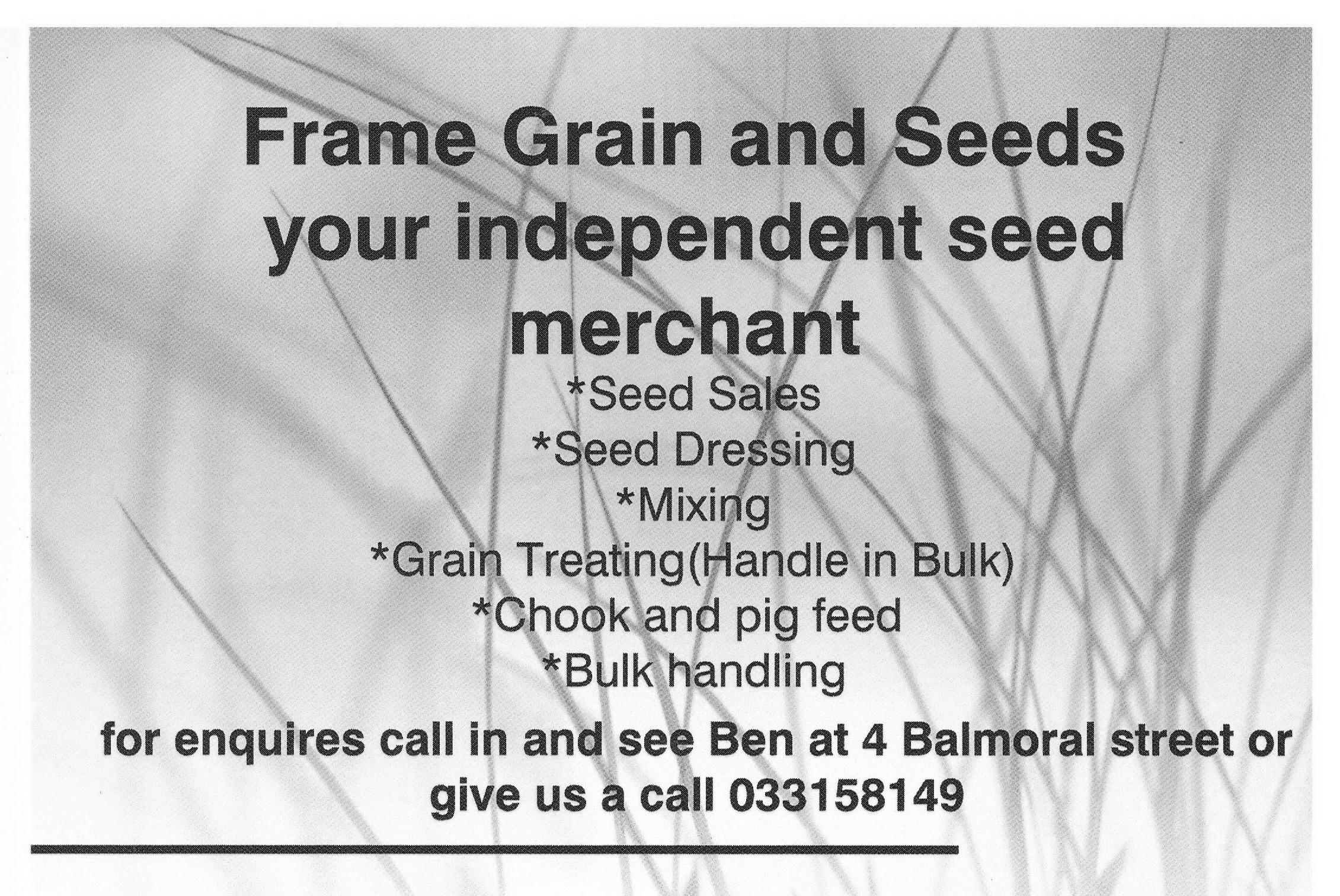 Frame Grain & Seed