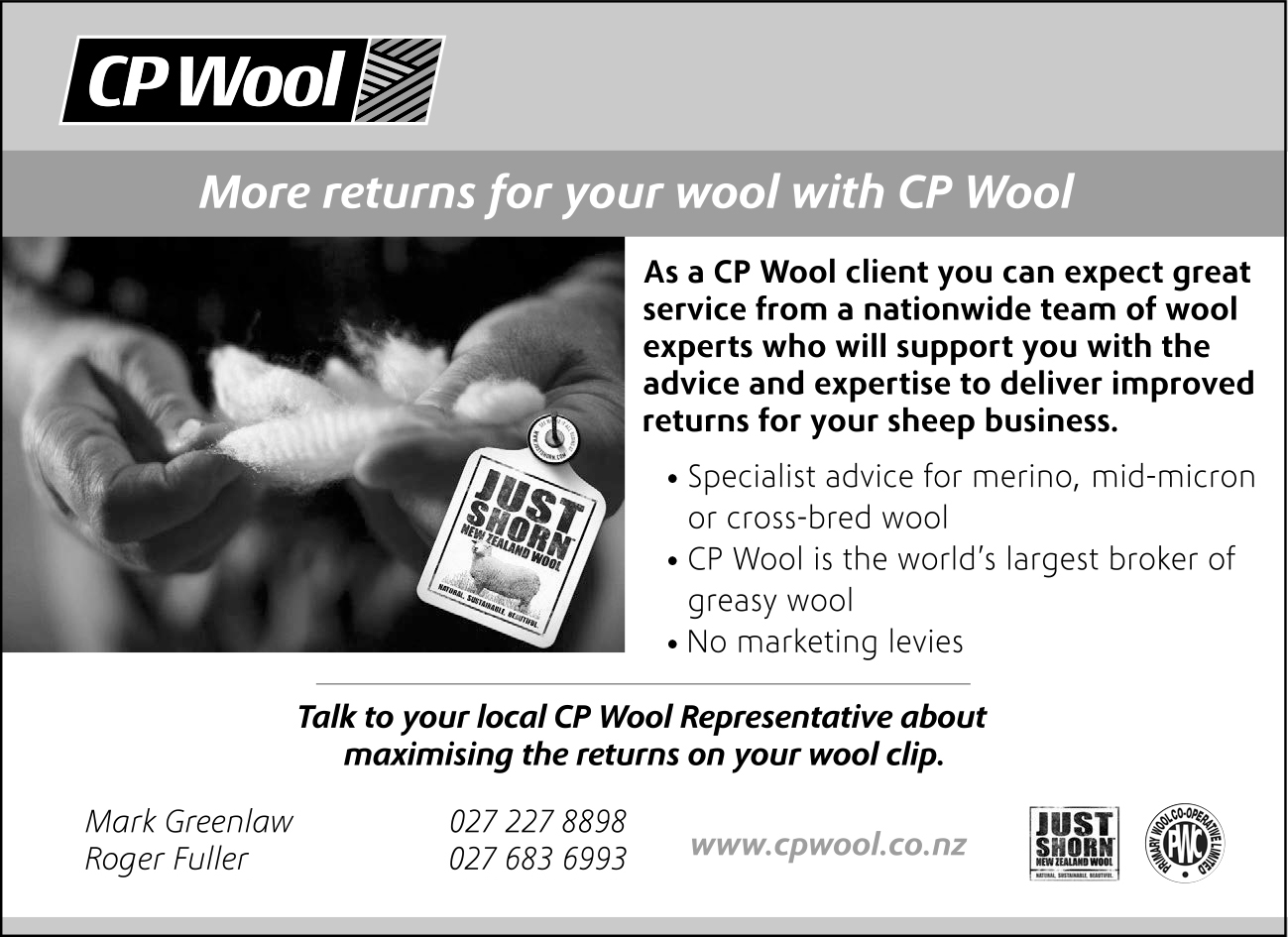CP Wool, Half Page 2019