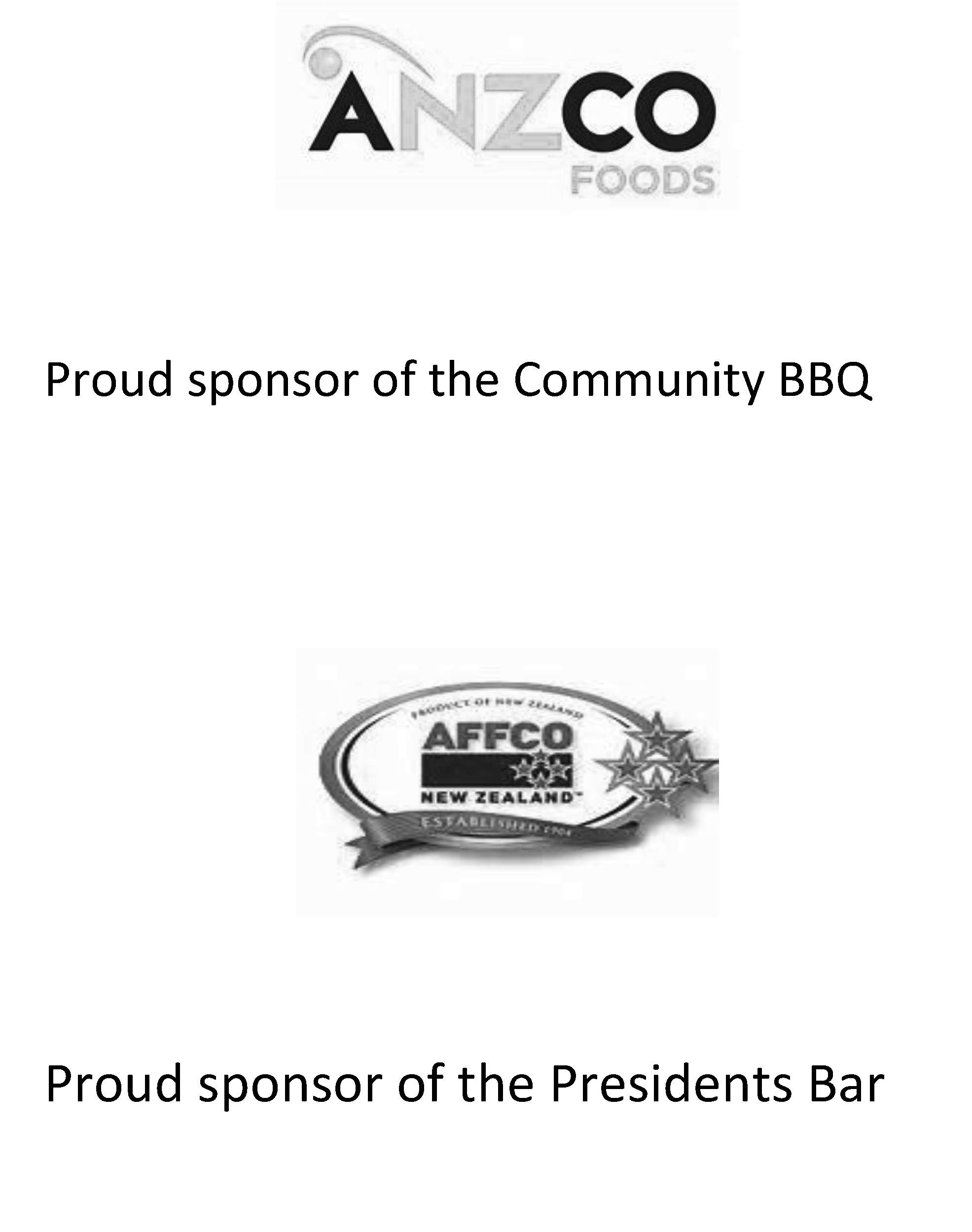 Proud sponsor of the Community BBQ
