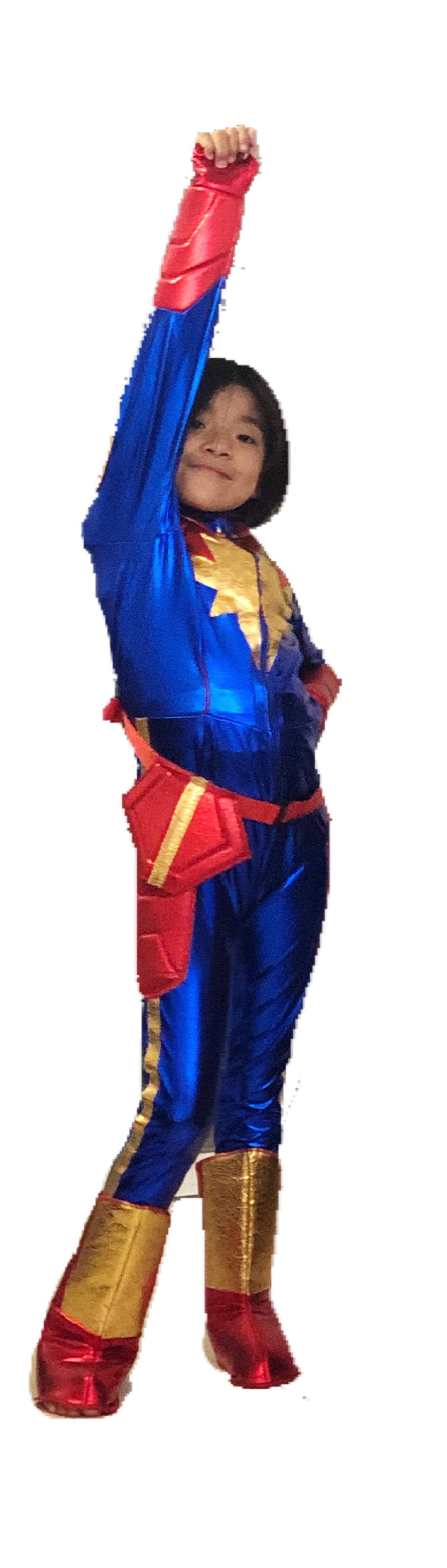disfraz capitana marvel niña