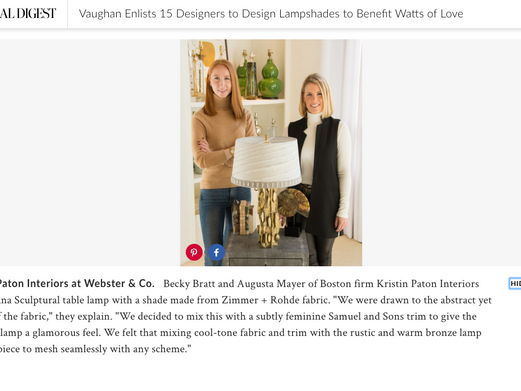 ARCHITECTURAL DIGEST FEATURE - WATTS OF LOVE