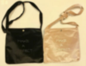 A50 Make a Perfect Day 黑色絨布側背小袋 1個