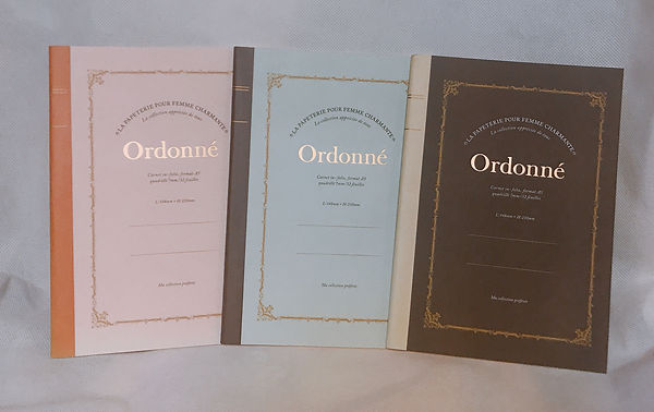 A57 Ordonne 經典燙金字體筆記本3本 (粉、水藍、咖啡)