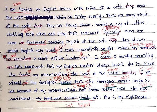 EET 英文家教 學員 Livia 作業