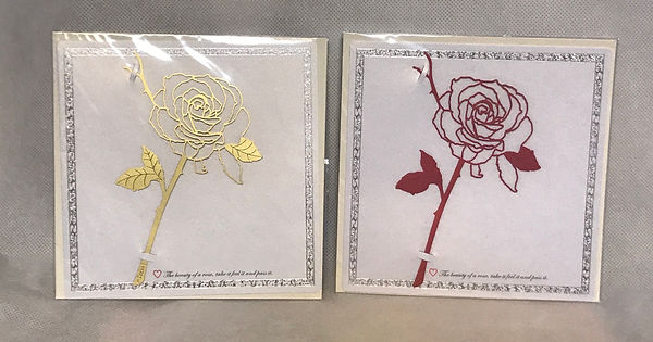 鋁合金玫瑰書籤 Rose Bookmark  含賀卡