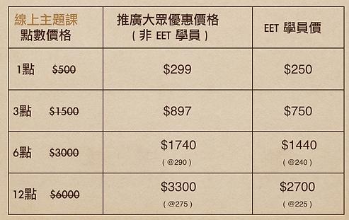 EET 英文主題課程 收費