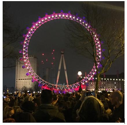 London Eye Fireworks- Blue Area