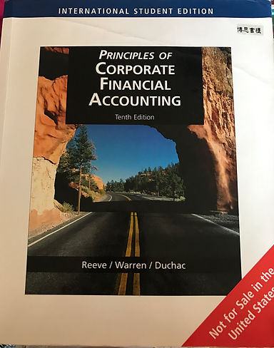 Principles of Corporate Financial Accounting