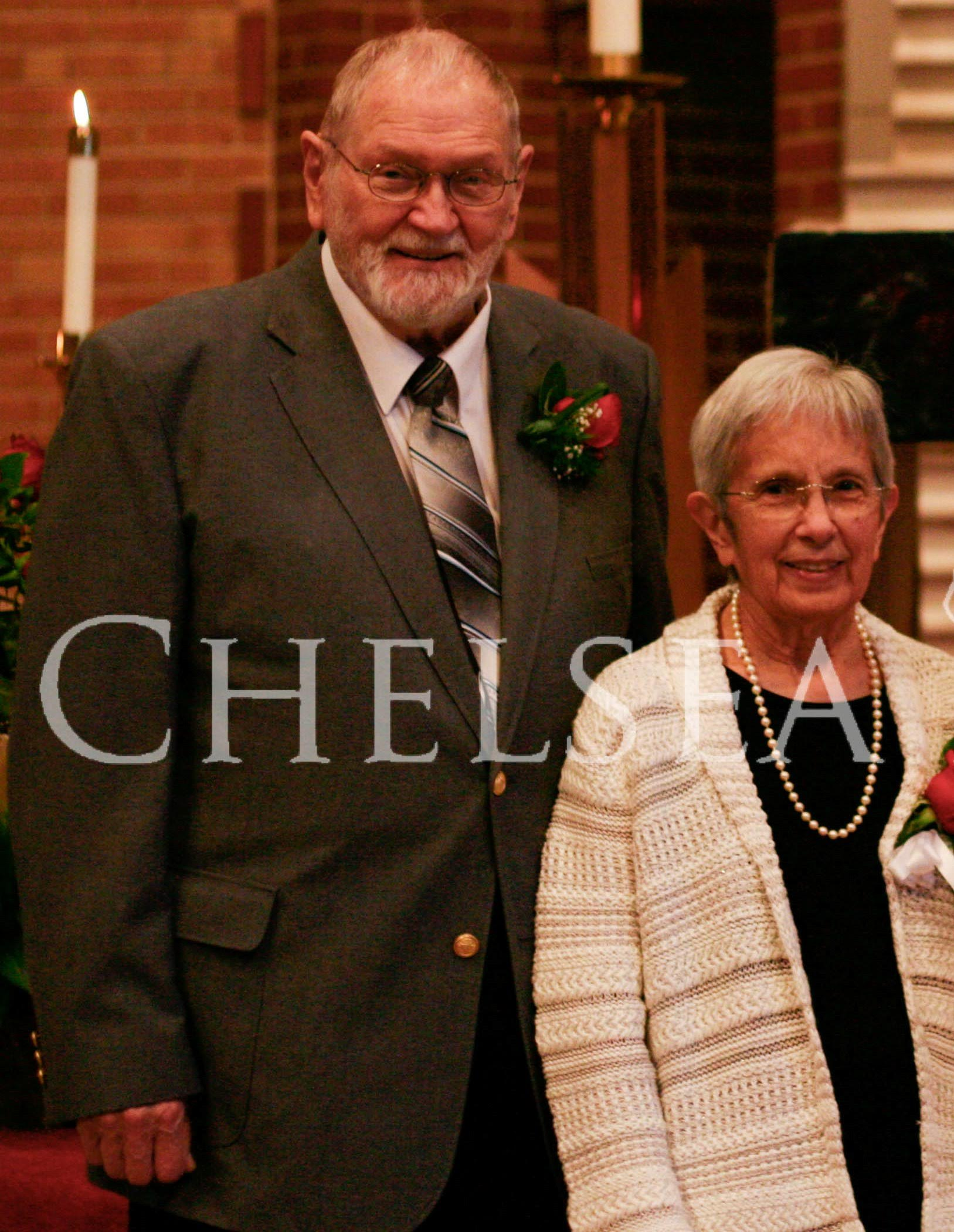 Jack and Cathy Robertson at grandaughter Kaitlin's wedding in 2013