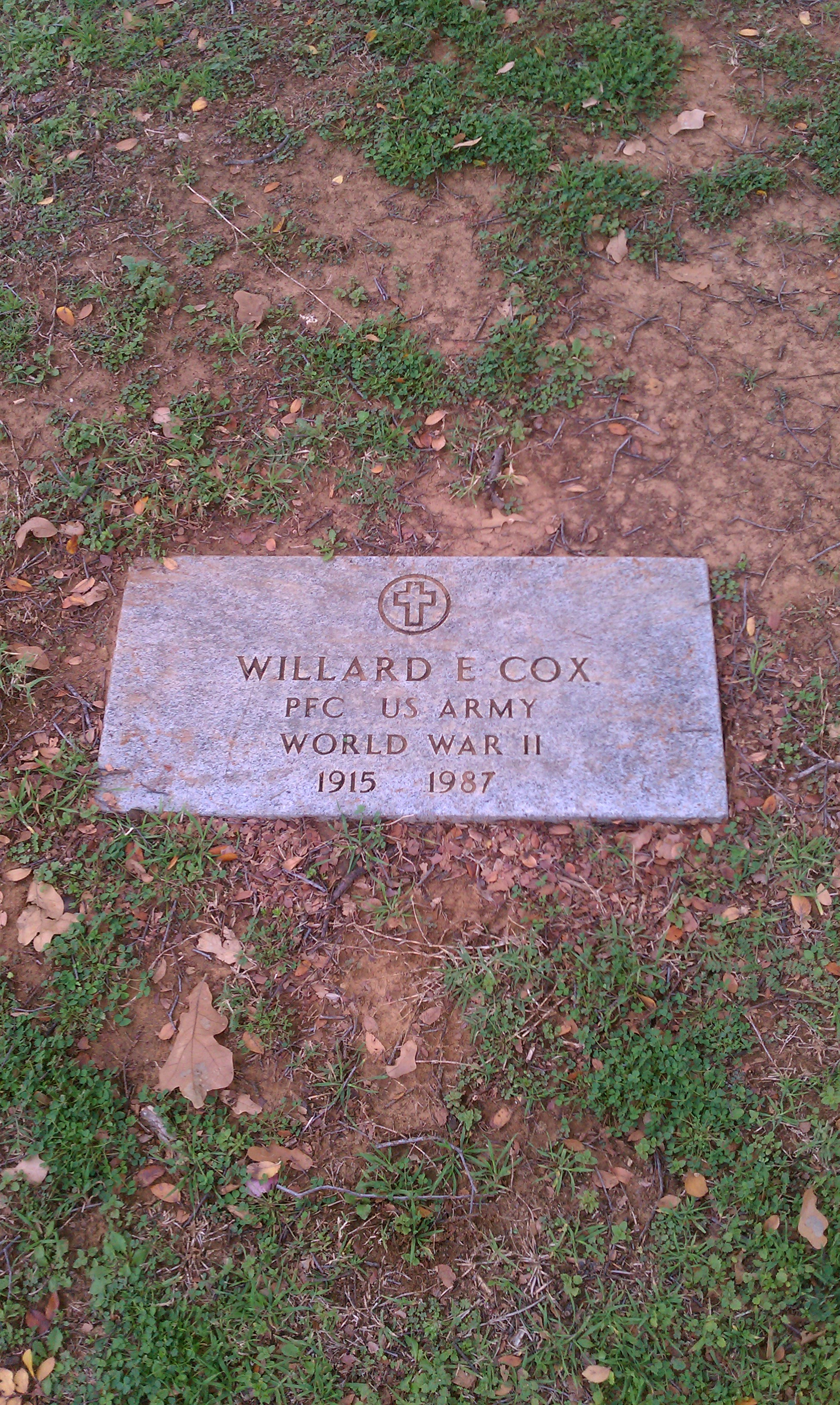 Willard Cox gravestone