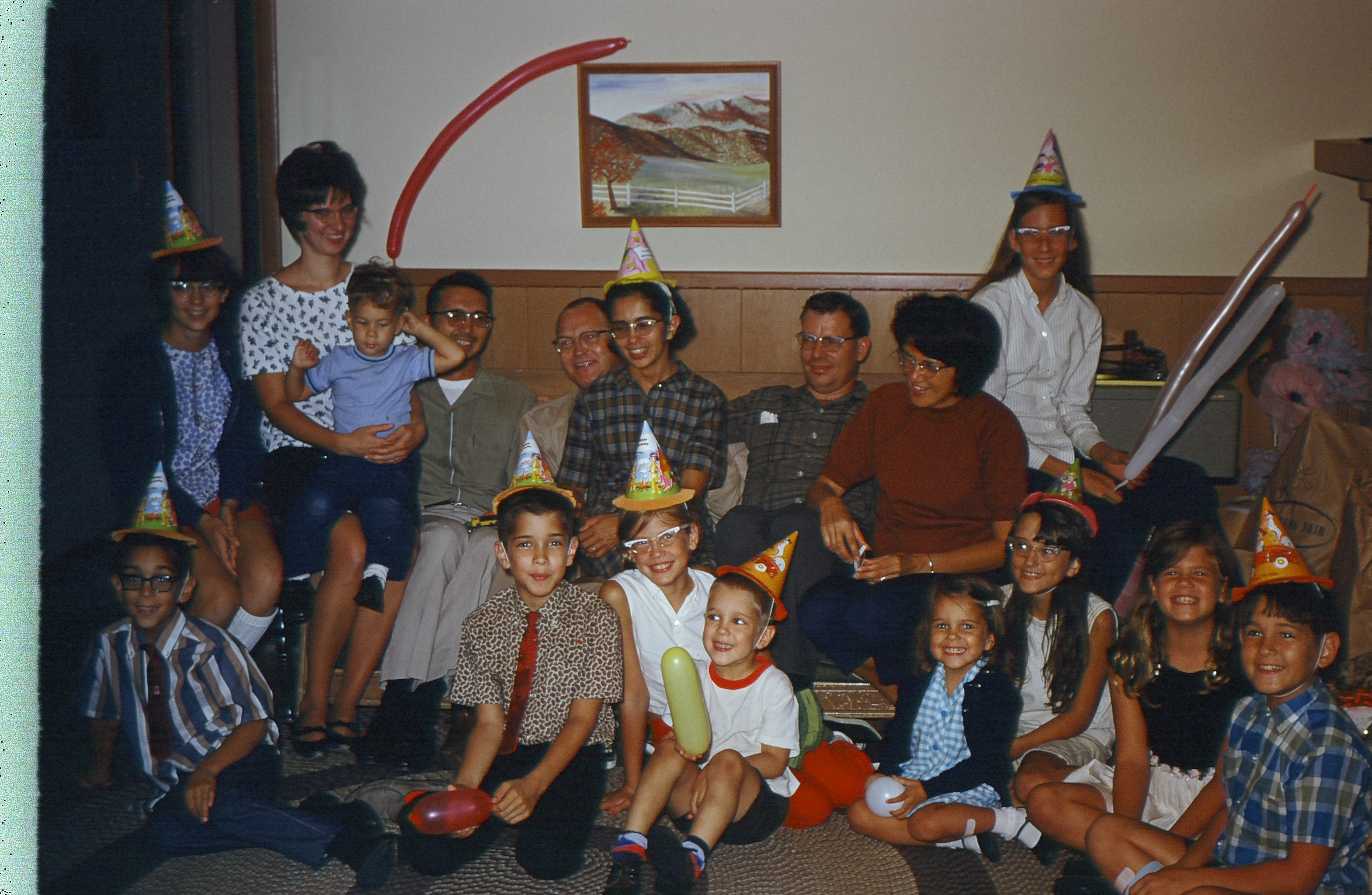 Birthday celebration in the 1960s