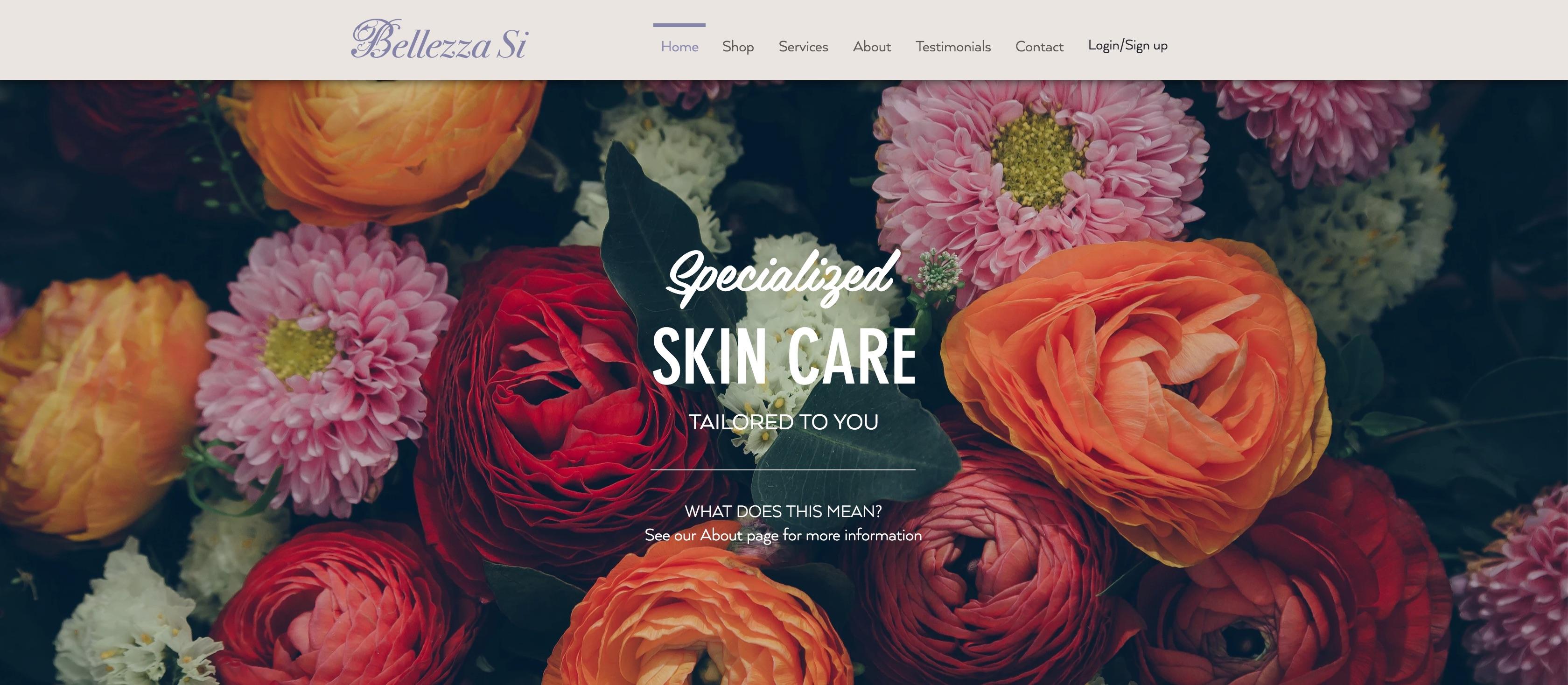 Bellezza Si - Landing Page