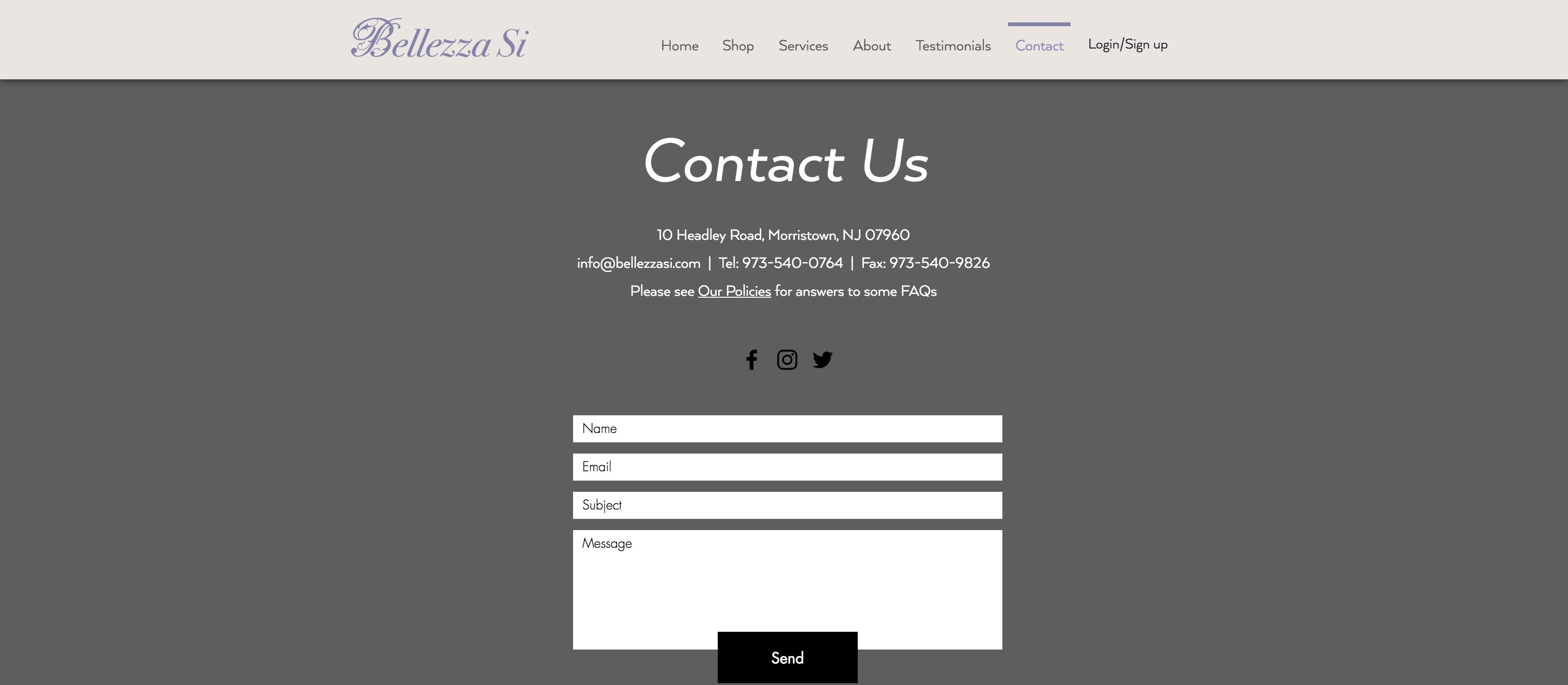 Bellezza Si - Contact Us