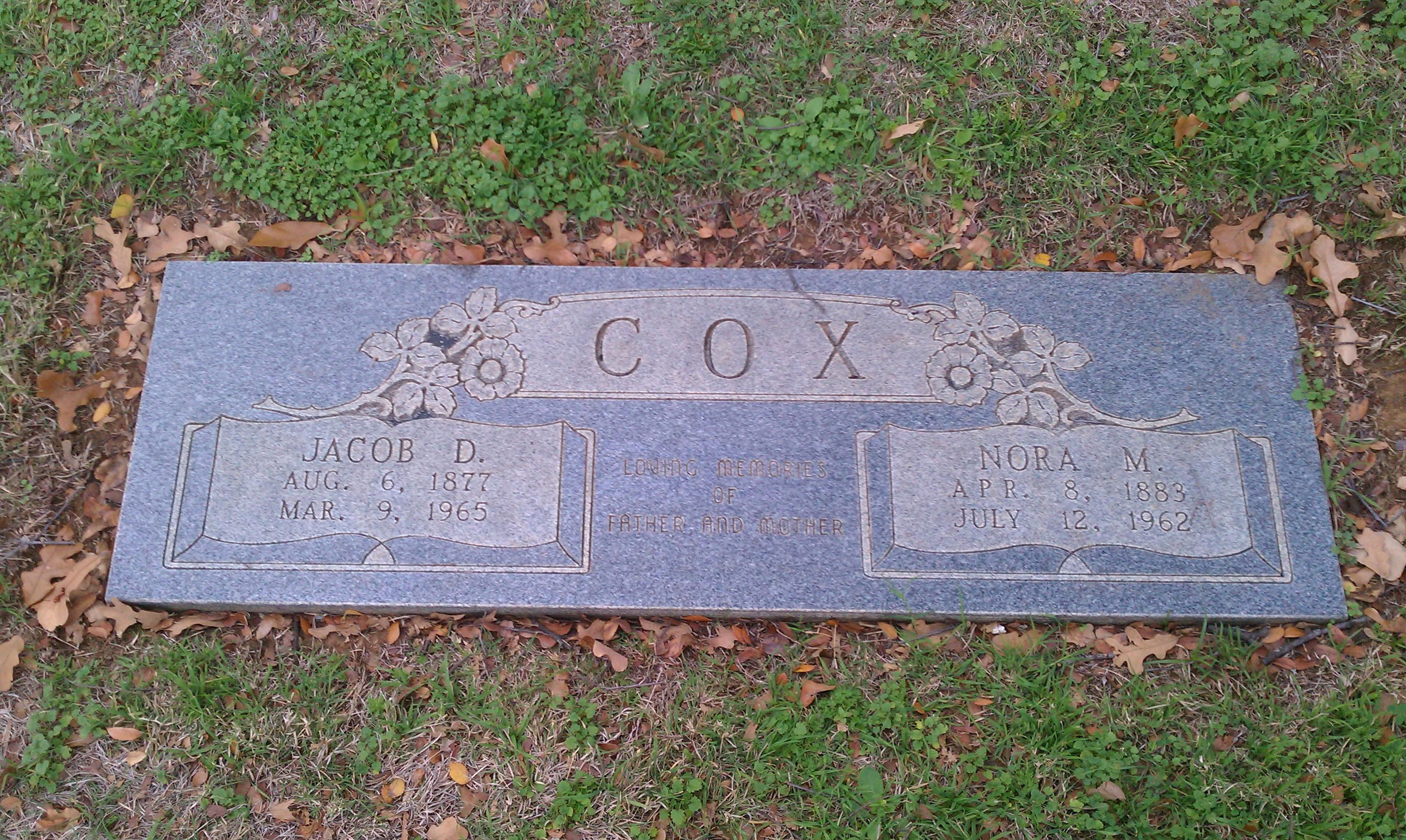 Jacob Cox gravestone