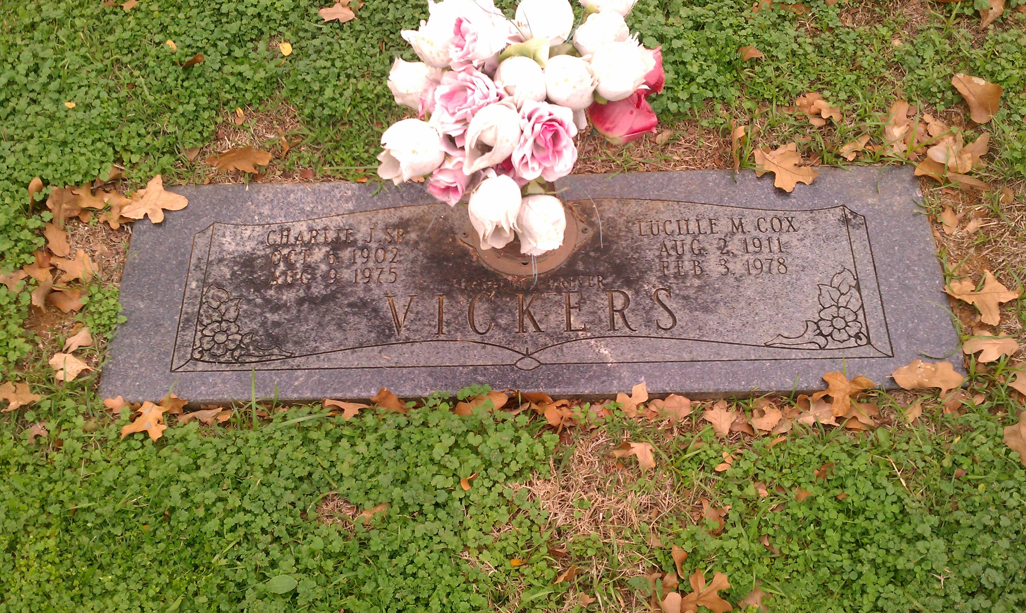 Lucille M. Cox gravestone