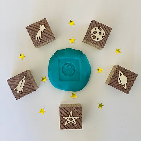 Preorder - Space Playdough Stamp Set