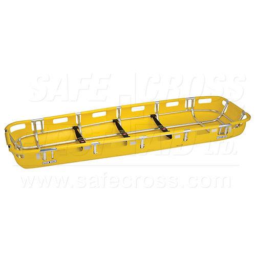Basket Litter Stretcher w/Aluminum Frame/Plastic Shell & Restraint Strap