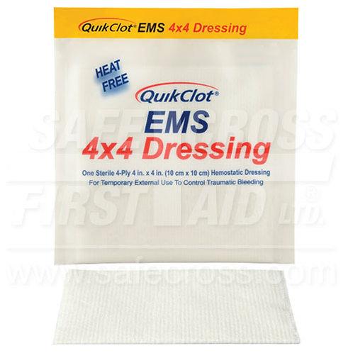Quikclot, Ems Dressing, 10.2 x 10.2 cm, Sterile
