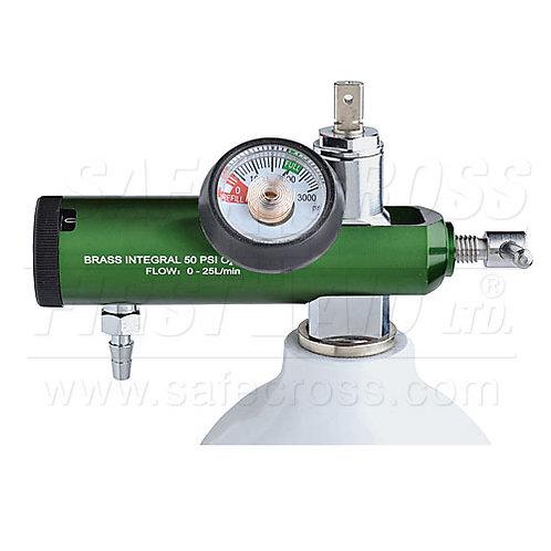 Oxygen Regulator w/Adjustable Flow, 0-25 LPM