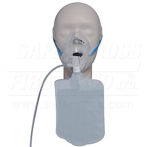 Oxygen Mask w/Tubing, Adult, Non-Rebreathing w/Bag
