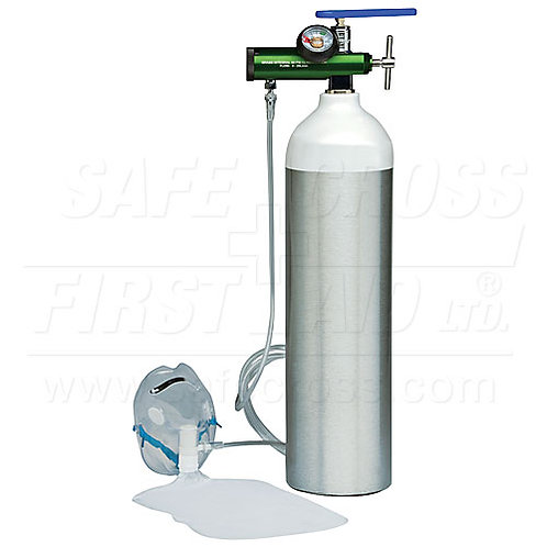 """Oxygen Kit, w/Adjustable Flow Regulator & """"D"""" (425 L) Cylinder (Empty)"""