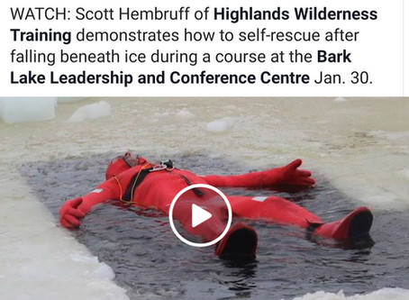 Ice Self Rescue Demonstration Featured By Local Media