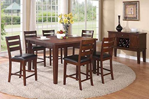 7 Piece Counter Ht Dining Set w/ Leaf